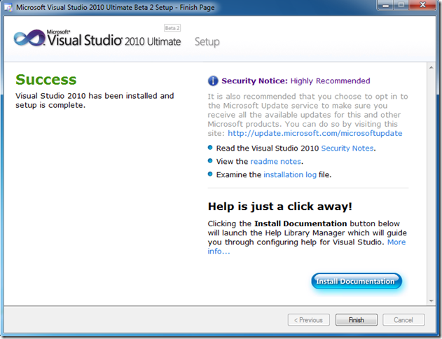 Visual Studio 2010 Beta 2 Setup Contains a Weird Blue Mac